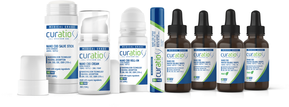 Curatio Full Spectrum CBD products with Nano-Technology