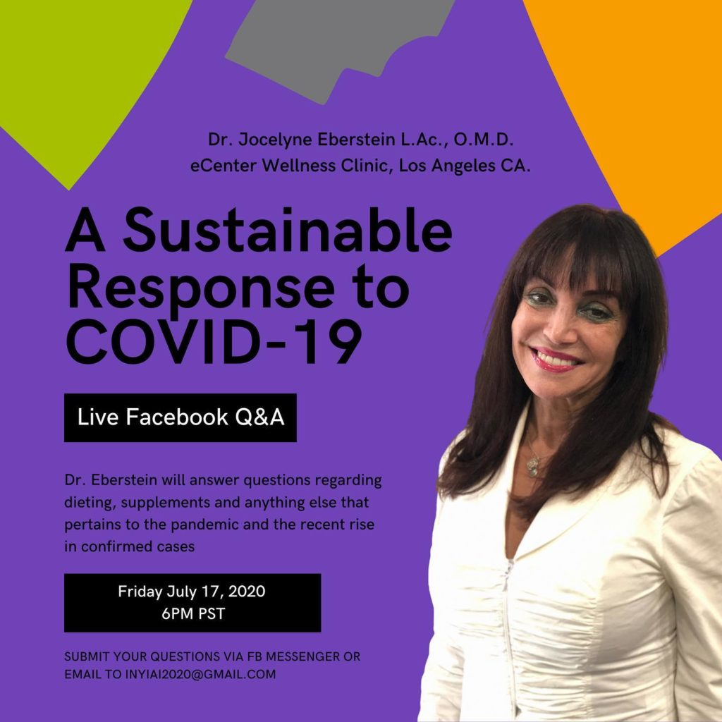 A sustainable response to COVID-19 live facebook event