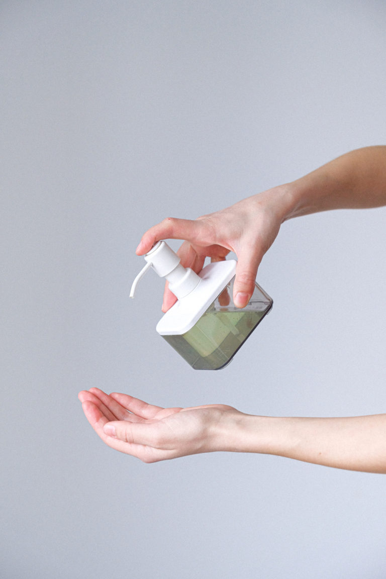 woman applying hand sanitizer 3987142 Autoimmune diet